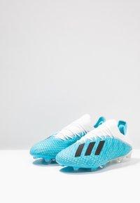 adidas Performance - X 19.2 FG - Chaussures de foot à crampons - bright cyan/core black/shock pink - 2