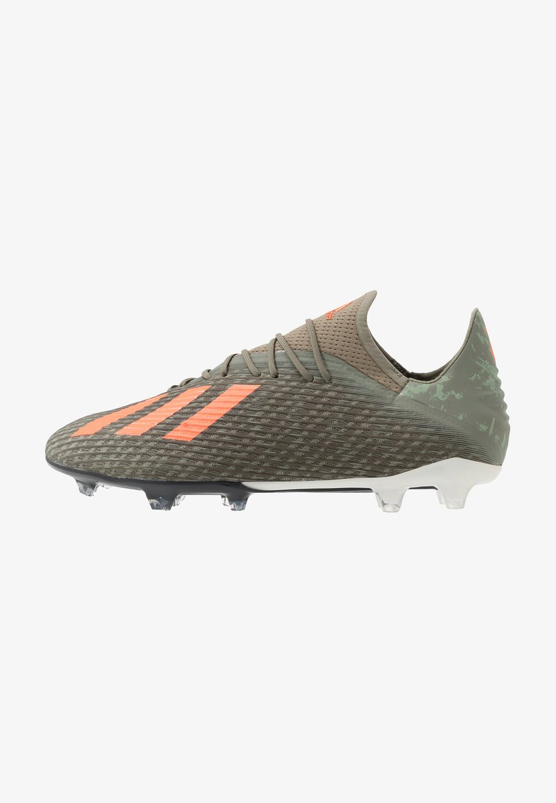 adidas Performance - X 19.2 FG - Voetbalschoenen met kunststof noppen - legend green/solar orange/core white