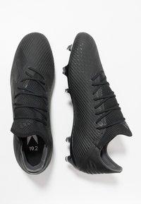 adidas Performance - X 19.2 FG - Botas de fútbol con tacos - core black/utility black/ silver metallic - 1