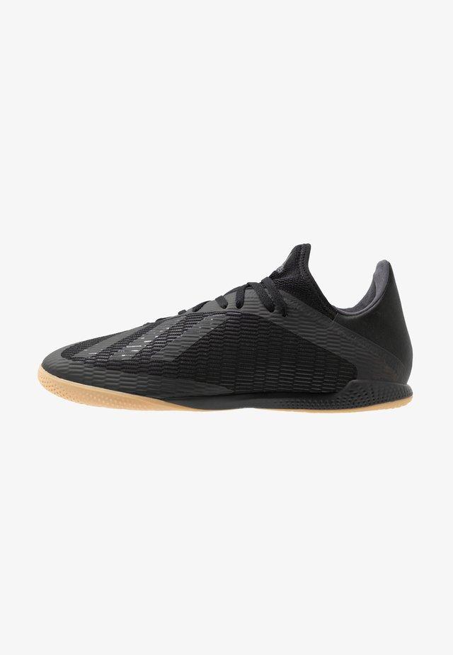 X 19.3 IN - Botas de fútbol sin tacos - core black/utility black/silver metallic