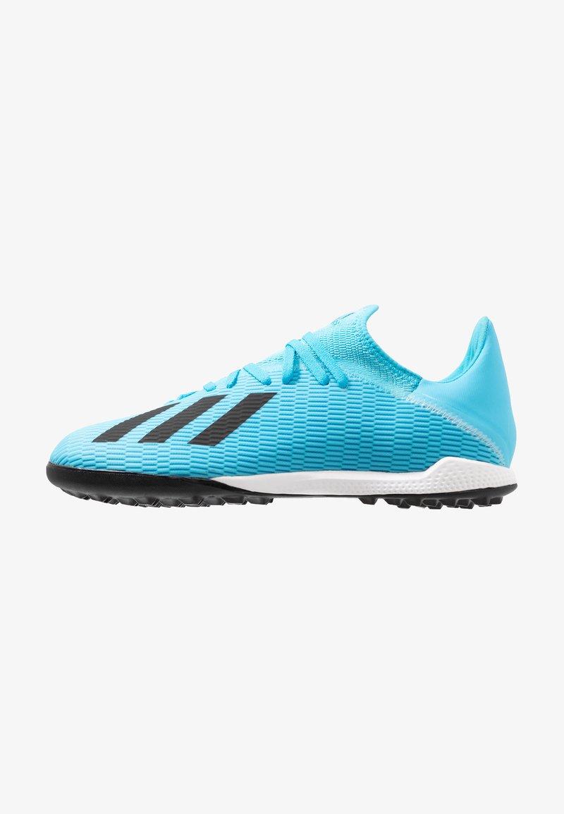 adidas Performance - X 19.3 TF - Botas de fútbol multitacos - bright cyan/core black/shock pink