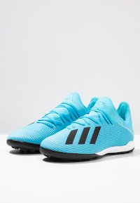 adidas Performance - X 19.3 TF - Chaussures de foot multicrampons - bright cyan/core black/shock pink - 2