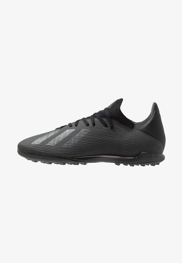 X 19.3 TF - Botas de fútbol multitacos - core black/utility black/silver metallic