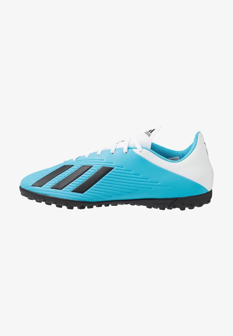 adidas Performance - X 19.4 TF - Fotbollsskor universaldobbar - bright cyan/core black/shock pink