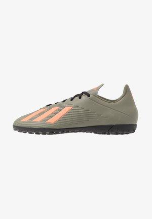 X 19.4 TF - Botas de fútbol multitacos - legend green/solar orange/core black