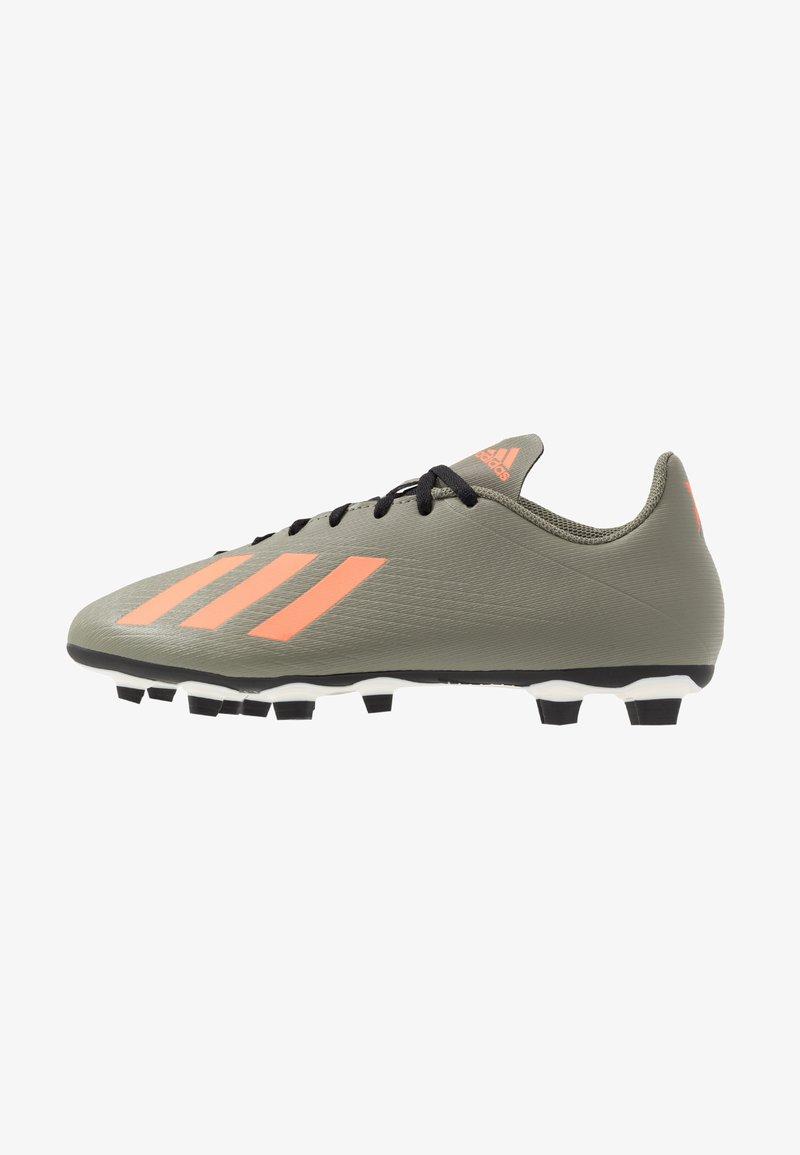 adidas Performance - X 19.4 FXG - Voetbalschoenen met kunststof noppen - legend green/solar orange/core white