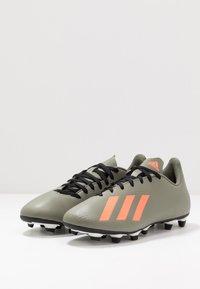 adidas Performance - X 19.4 FXG - Voetbalschoenen met kunststof noppen - legend green/solar orange/core white - 2