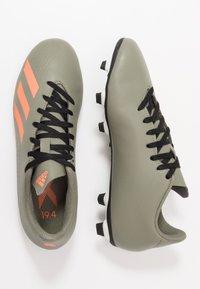 adidas Performance - X 19.4 FXG - Voetbalschoenen met kunststof noppen - legend green/solar orange/core white - 1