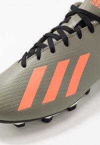 adidas Performance - X 19.4 FXG - Voetbalschoenen met kunststof noppen - legend green/solar orange/core white - 5