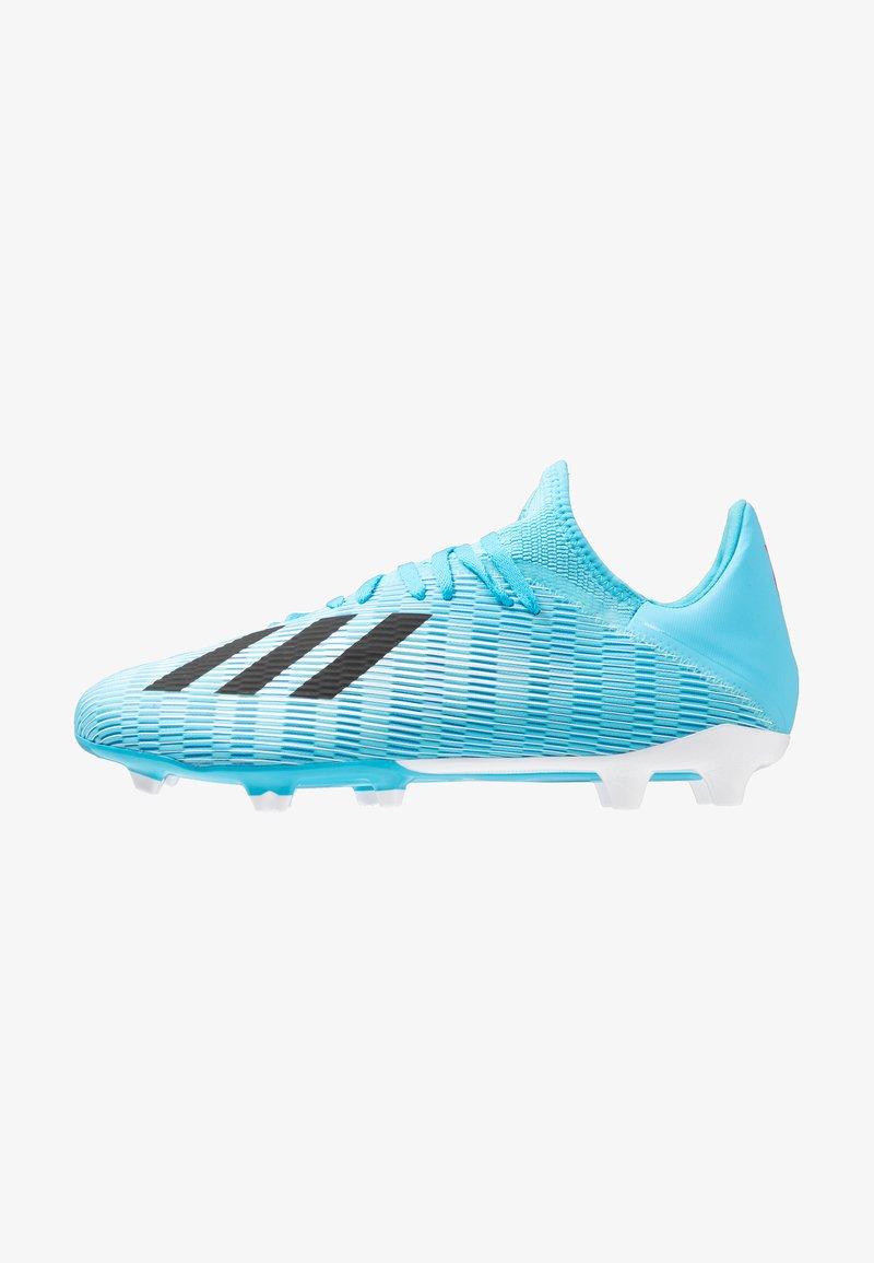 adidas Performance - X 19.3 FG - Fußballschuh Nocken - bright cyan/core black/shock pink
