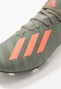 adidas Performance - X 19.3 FG - Moulded stud football boots - legend green/solar orange/white - 5