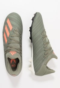 adidas Performance - X 19.3 FG - Moulded stud football boots - legend green/solar orange/white - 1