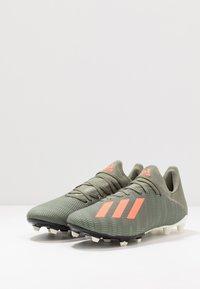 adidas Performance - X 19.3 FG - Moulded stud football boots - legend green/solar orange/white - 2