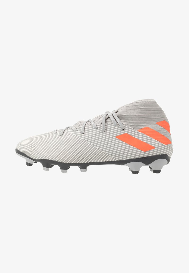 adidas Performance - NEMEZIZ 19.3 MG - Chaussures de foot à crampons - grey two/solar orange/core white