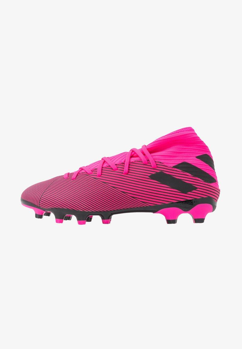 adidas Performance - NEMEZIZ 19.3 MG - Moulded stud football boots - shock pink/core black