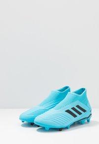 adidas Performance - PREDATOR 19.3 LL FG - Chaussures de foot à crampons - bright cyan/core black/solar yellow - 2