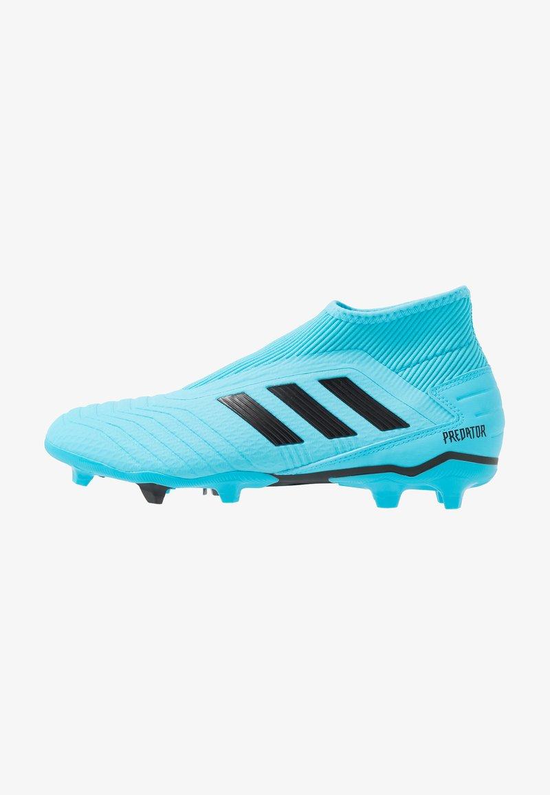 adidas Performance - PREDATOR 19.3 LL FG - Chaussures de foot à crampons - bright cyan/core black/solar yellow