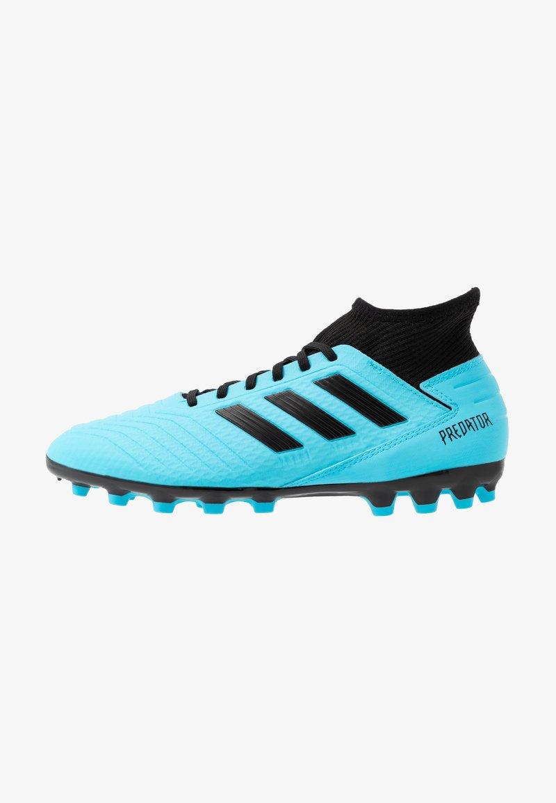 adidas Performance - PREDATOR 19.3 AG - Botas de fútbol con tacos - bright cyan/core black/solar yellow