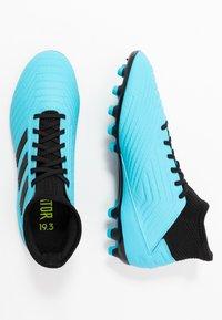 adidas Performance - PREDATOR 19.3 AG - Botas de fútbol con tacos - bright cyan/core black/solar yellow - 1