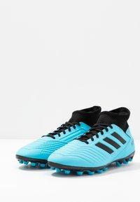 adidas Performance - PREDATOR 19.3 AG - Botas de fútbol con tacos - bright cyan/core black/solar yellow - 2