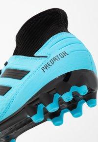 adidas Performance - PREDATOR 19.3 AG - Fotbollsskor fasta dobbar - bright cyan/core black/solar yellow - 5