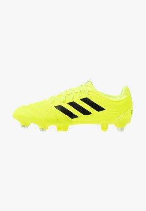 COPA 19.3 SG - Chaussures de foot à lamelles - solar yellow/core black