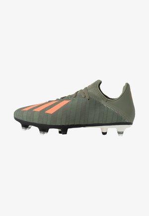 X 19.3 SG - Screw-in stud football boots - legend green/solar orange/core white