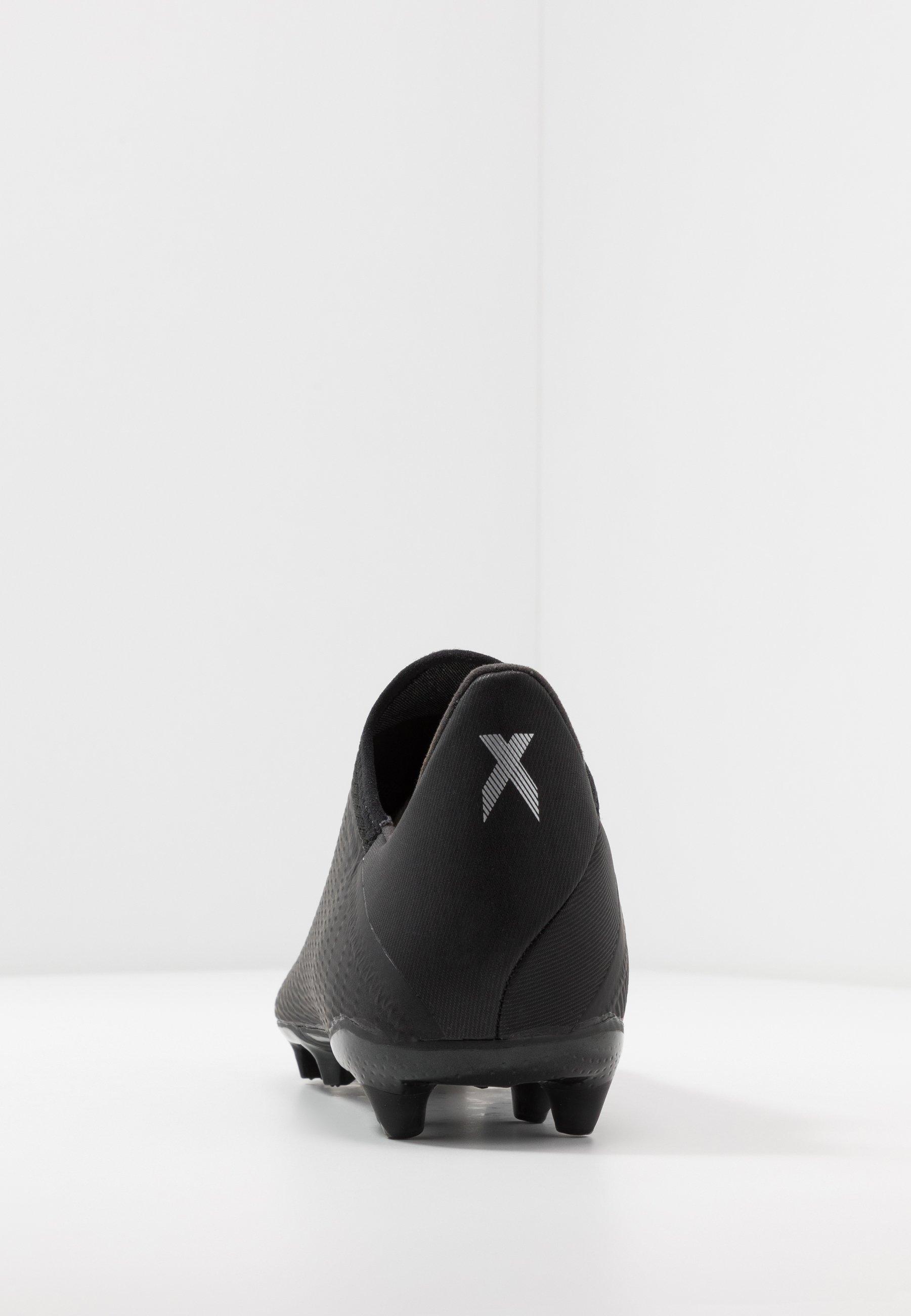 adidas Performance X 19.3 LL FG - Chaussures de foot à crampons - core black/utility black/silver metallic