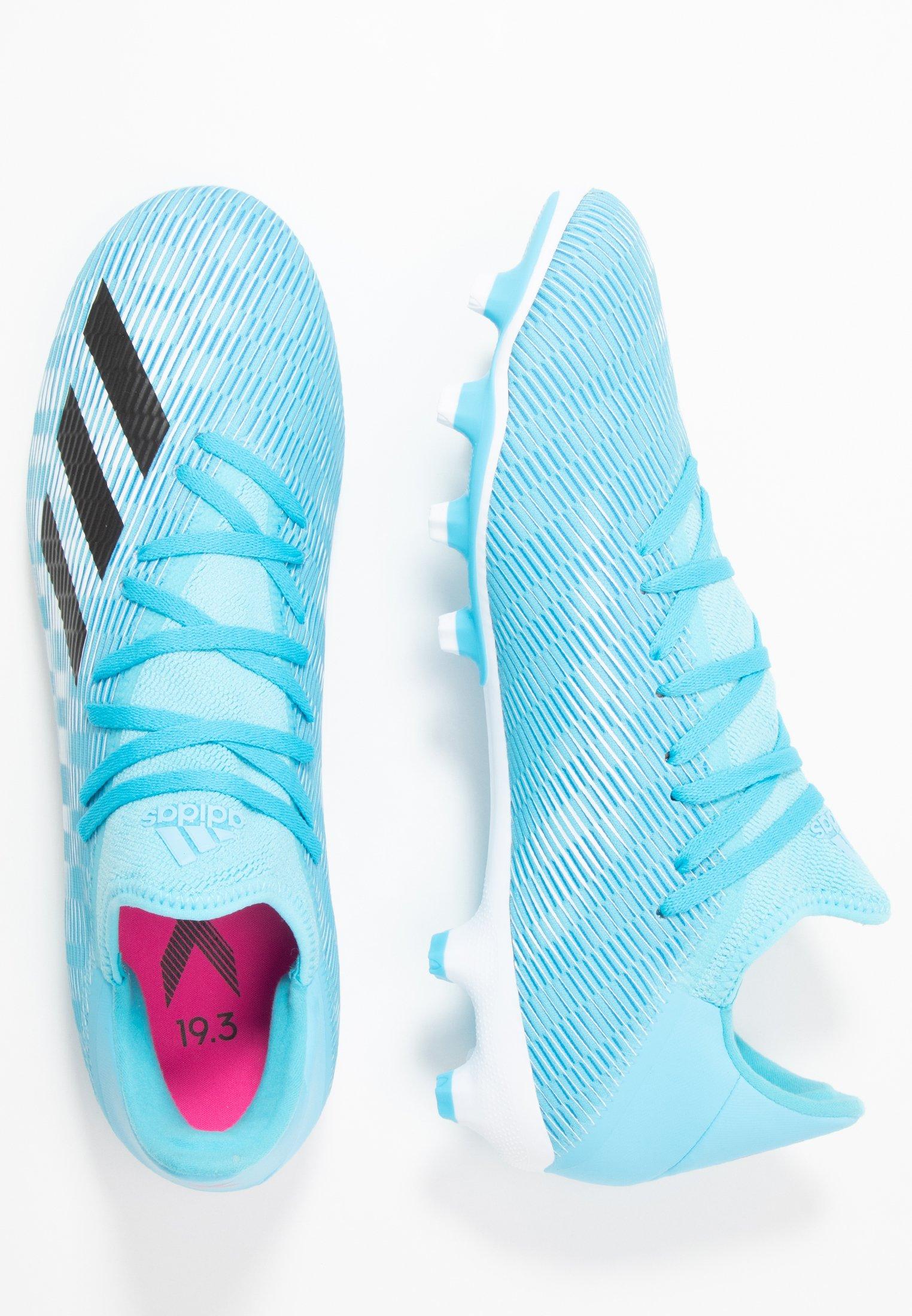 Adidas Performance X 19.3 Mg - Chaussures De Foot À Crampons Bright Cyan/core Black/shock Pink