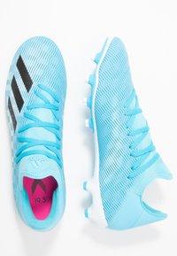 adidas Performance - X 19.3 MG - Voetbalschoenen met kunststof noppen - bright cyan/core black/shock pink - 1