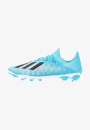 X 19.3 MG - Voetbalschoenen met kunststof noppen - bright cyan/core black/shock pink