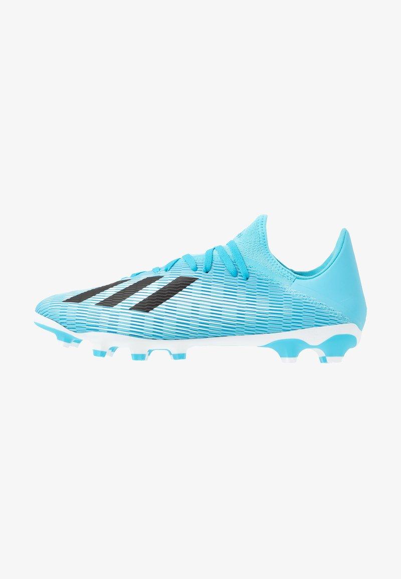 adidas Performance - X 19.3 MG - Voetbalschoenen met kunststof noppen - bright cyan/core black/shock pink