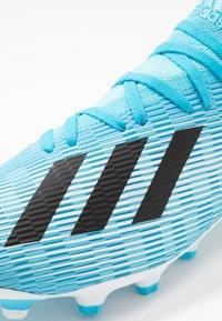 adidas Performance - X 19.3 MG - Voetbalschoenen met kunststof noppen - bright cyan/core black/shock pink - 5