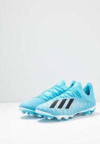 adidas Performance - X 19.3 MG - Voetbalschoenen met kunststof noppen - bright cyan/core black/shock pink - 2