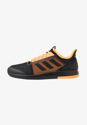 DEFIANT BOUNCE 2 - Multicourt tennis shoes - core black/flash orange
