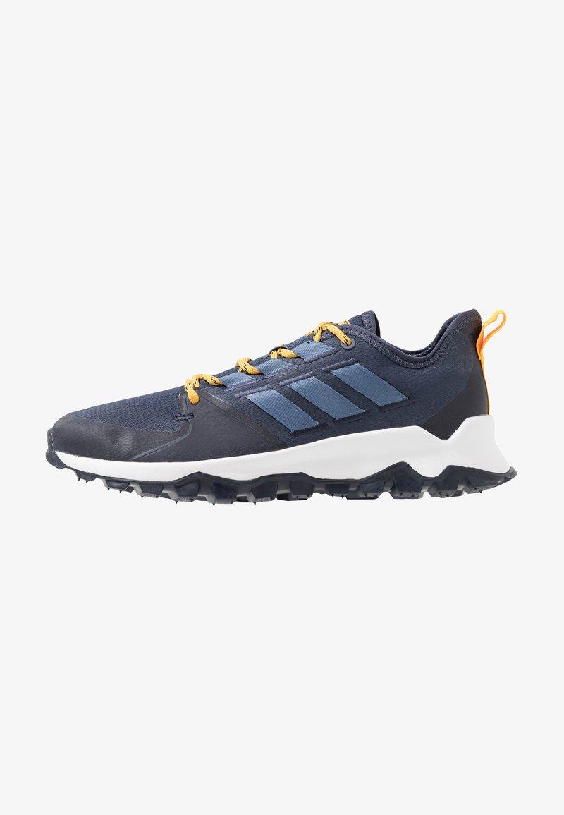 adidas Performance - KANADIA - Løbesko trail - trace blue/tech ink/active gold