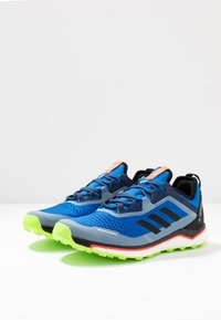 adidas Performance - TERREX AGRAVIC FLOW - Trail running shoes - glow blue/core black - 2