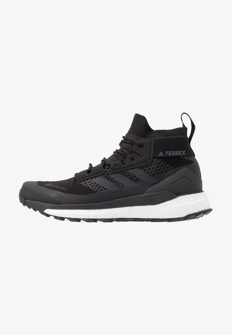 adidas Performance - TERREX FREE HIKER GORE TEX HIKING SHOES - Hiking shoes - core black/grey three/active orange