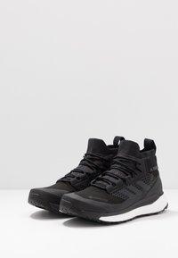 adidas Performance - TERREX FREE HIKER GORE TEX HIKING SHOES - Hiking shoes - core black/grey three/active orange - 2