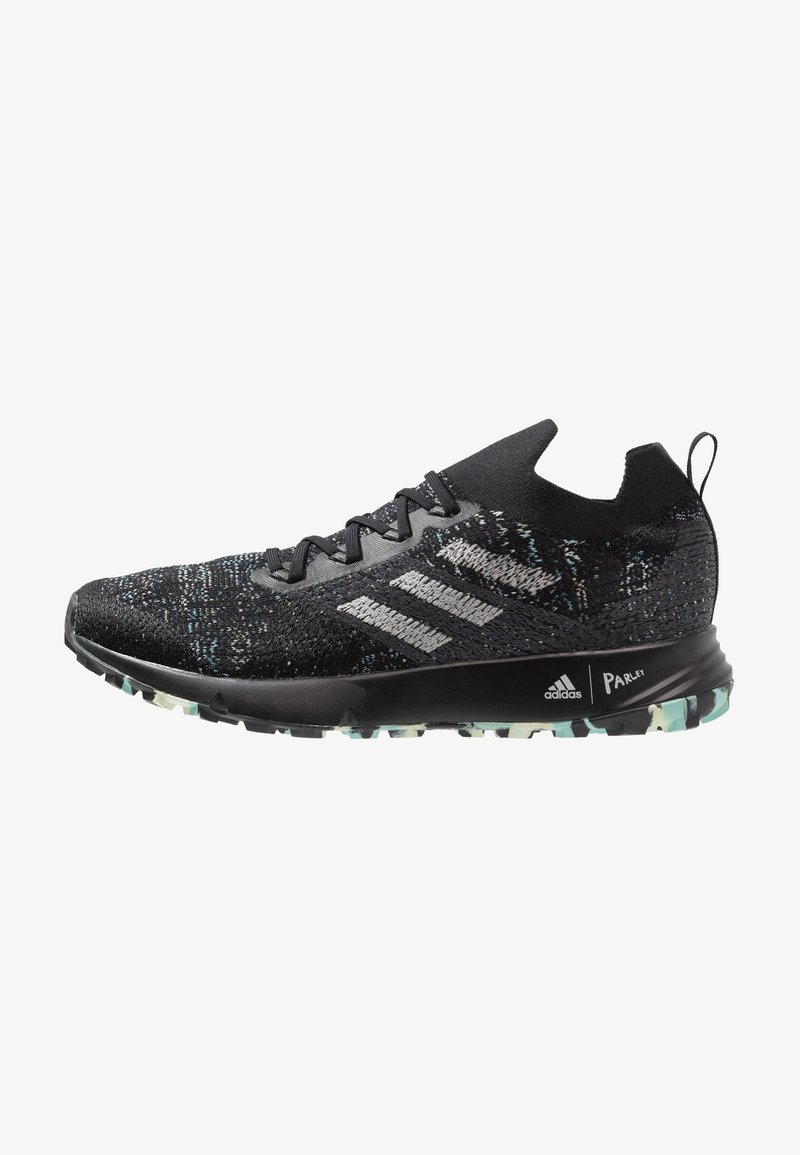 adidas Performance - TERREX TWO PARLEY TRAIL RUNNING SHOES - Laufschuh Trail - core black/grey two/link green