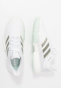 adidas Performance - SOLECOURT BOOST - Clay court tennis shoes - footwear white/legend green/granit tint - 1