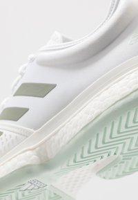 adidas Performance - SOLECOURT BOOST - Clay court tennis shoes - footwear white/legend green/granit tint - 5
