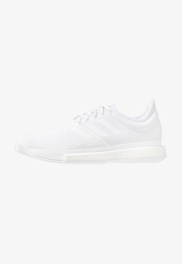 SOLECOURT BOOST X PARLEY - Zapatillas de tenis para todas las superficies - white/core black