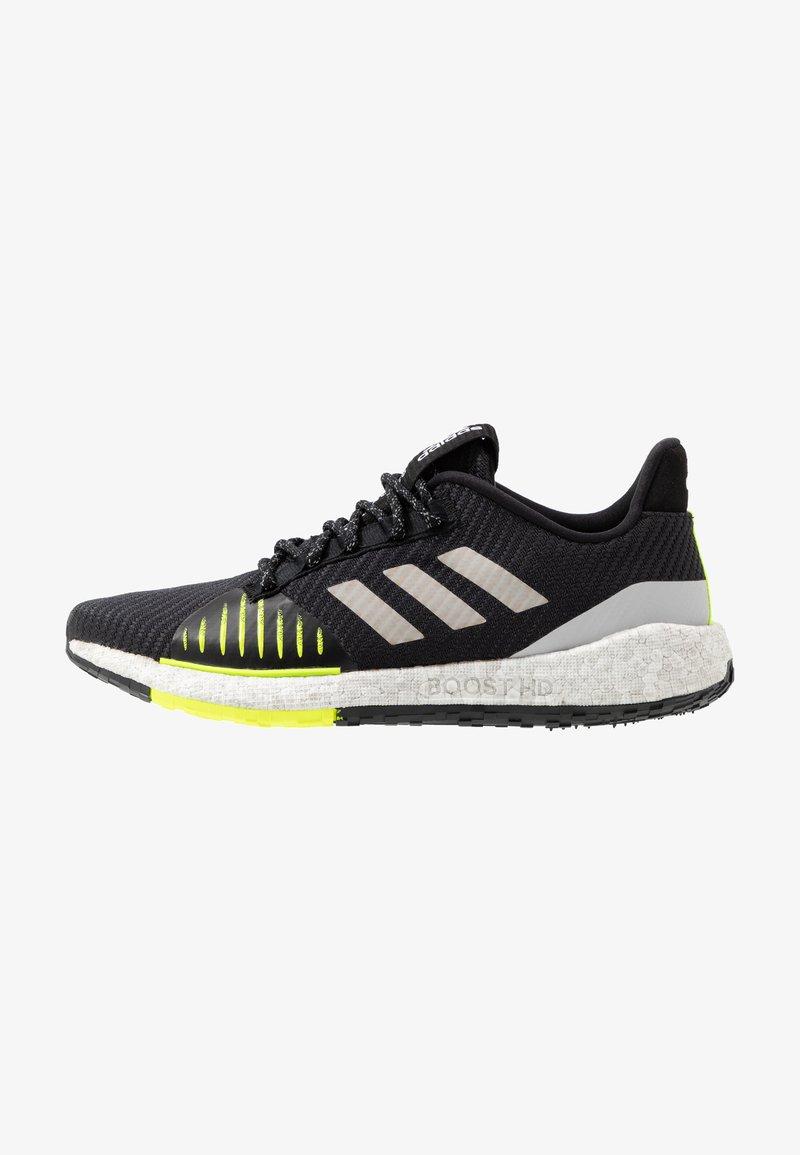 adidas Performance - PULSEBOOST HD PRCT - Hardloopschoenen neutraal - core black/grey two/solar yellow