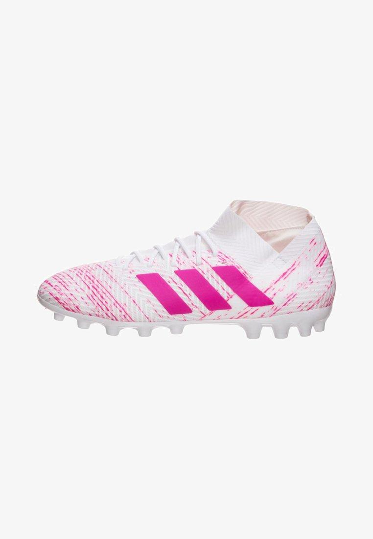 adidas Performance - NEMEZIZ 18.3 ARTIFICIAL GRASS BOOTS - Fußballschuh Nocken - white /  pink
