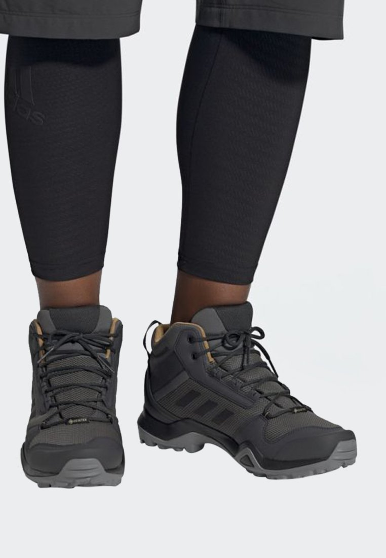 adidas Performance - TERREX AX3 MID GORE TEX HIKING SHOES - Hiking shoes - grey/ black