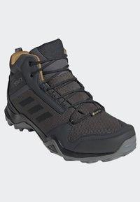 adidas Performance - TERREX AX3 MID GORE TEX HIKING SHOES - Hiking shoes - grey/ black - 3