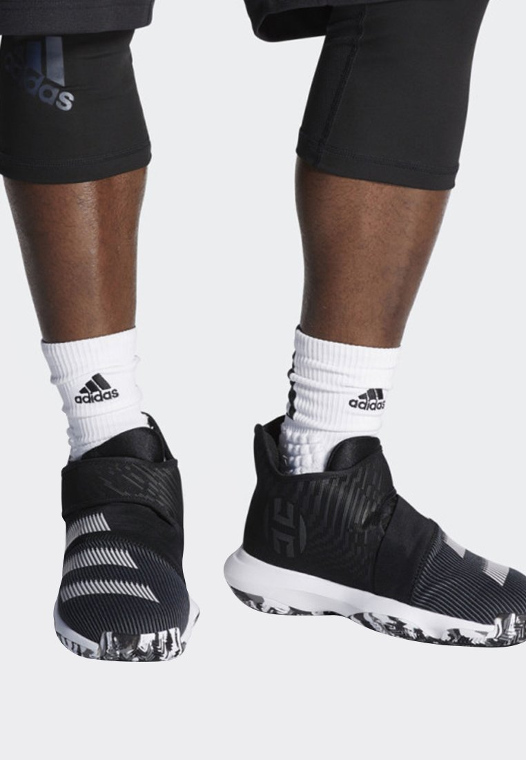adidas Performance - HARDEN B/E 3 SHOES - Basketball shoes - black/white/grey