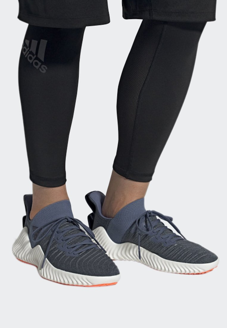 adidas Performance - ALPHABOUNCE TRAINER SHOES - Løbesko stabilitet - blue
