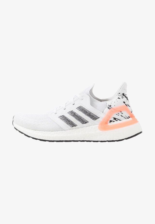 ULTRABOOST 20 PRIMEKNIT RUNNING SHOES - Neutrální běžecké boty - footwear white/core black/signal coral